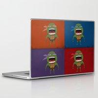 turtles Laptop & iPad Skins featuring Screaming Turtles by That Design Bastard