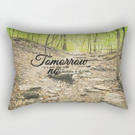 Tomorrow is a New Day with No Mistakes in it Rectangular Pillow