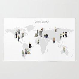 Architects world map Rug