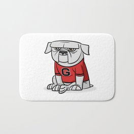 Bulldog from Georgia Bath Mat