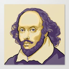 Shakespeare - royal purple and yellow Canvas Print