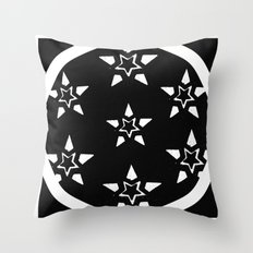 Stars In A Circle In A Square Throw Pillow