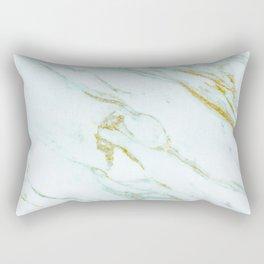 Gold Mint Marbled Rectangular Pillow