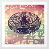 psych Art Prints featuring Psych Trap by ArtAngel