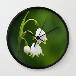 Snowflake Flowers Wall Clock