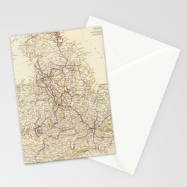 Vintage Map of England (1837)  Stationery Cards