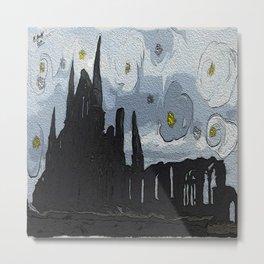 Gothic castle landscape Metal Print