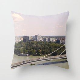 Bratislava Bridge Throw Pillow