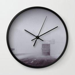 through the snow Wall Clock