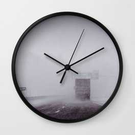 through the snow Wall Clock