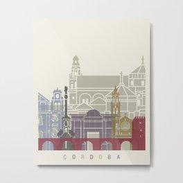 Cordoba skyline poster Metal Print