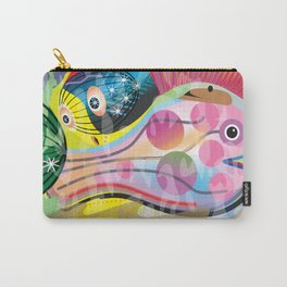 Hippy Fish in Rainbow Glow Carry-All Pouch