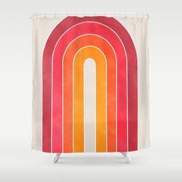 retro u stripes Shower Curtain