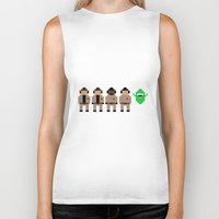 ghostbusters Biker Tanks featuring Ghostbusters by Pixel Icons
