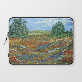 Summer In The Meadows, Impressionism floral landscape Laptop Sleeve