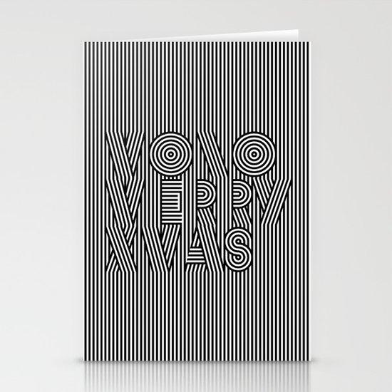 Mono Merry Xmas Stationery Cards