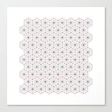#326 Triagons/Hexangles – Geometry Daily Canvas Print