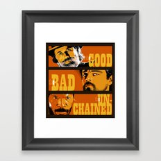 The Good, the Bad and the Unchained Framed Art Print