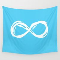 the fault Wall Tapestries featuring Fault In Our Stars - Infinity by tangofox