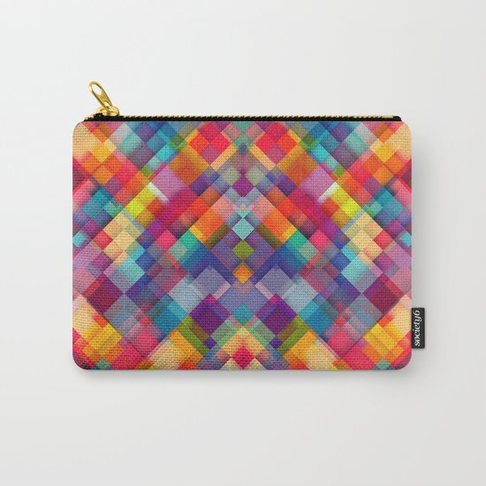 Squares Everywhere Carry-All Pouch