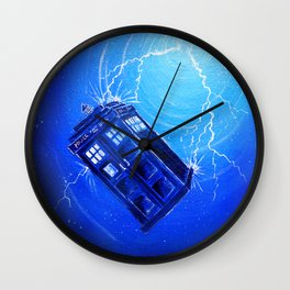 Tardis orbiting. Wall Clock