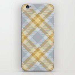 Yellow Gray Plaid Rug iPhone Skin