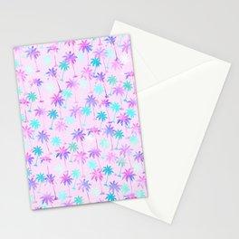 Palm tree pattern Stationery Cards