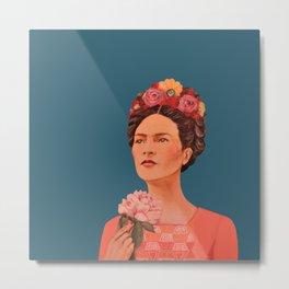 moi, Frida! Metal Print