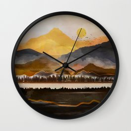 Pure Wilderness at Dusk Wall Clock