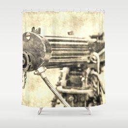 Vickers Machine Gun Vintage Shower Curtain
