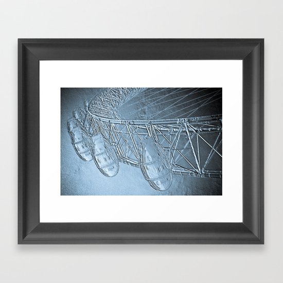 Embossed London Eye Framed Art Print