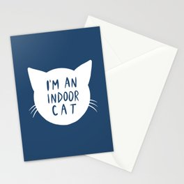 Indoor Cat (silhouette) Stationery Cards