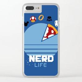 Nerd life Clear iPhone Case