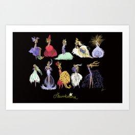 Thumbelina Dresses! Art Print