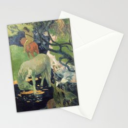 The White Horse by Paul Gauguin Stationery Cards