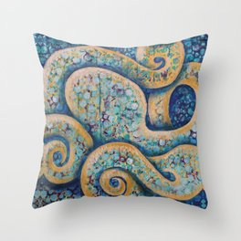 The Intuitive Octopus Throw Pillow