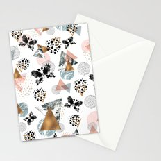 Abstract butterfly and geometric Stationery Cards