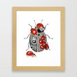 Siege of ladybugs Framed Art Print