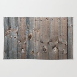 Brown Wooden Fence Rug