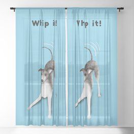 Whip it! (Light Blue) Sheer Curtain