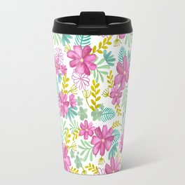 Emila Watercolor Florals Travel Mug