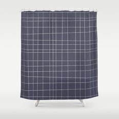 Charcoal Grid Shower Curtain