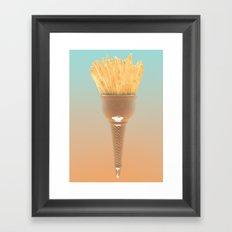 Papas Fritas Ice Cream Framed Art Print