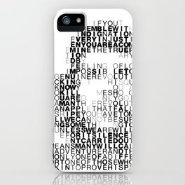 Che Guevara Portrait in Words iPhone Case