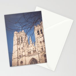 Brussels Cathedral Stationery Cards