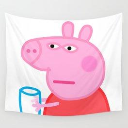 Peppa Pig Meme Wall Tapestry