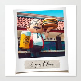 Burgers & Beers Canvas Print