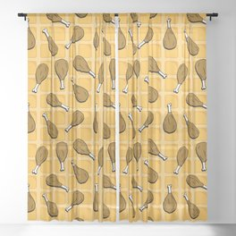 chicken and waffles Sheer Curtain