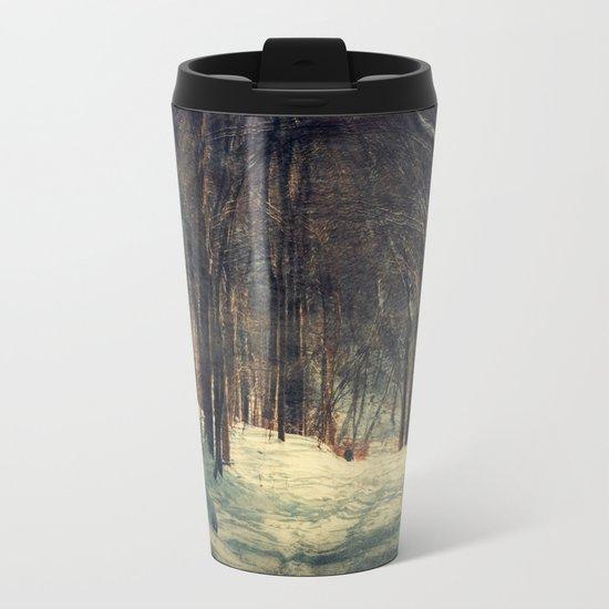 Winter Path Metal Travel Mug