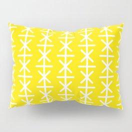 Geometric Pattern 168 (yellow stars) Pillow Sham